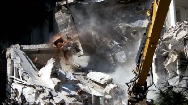 Demolution Destruction an Old House Building