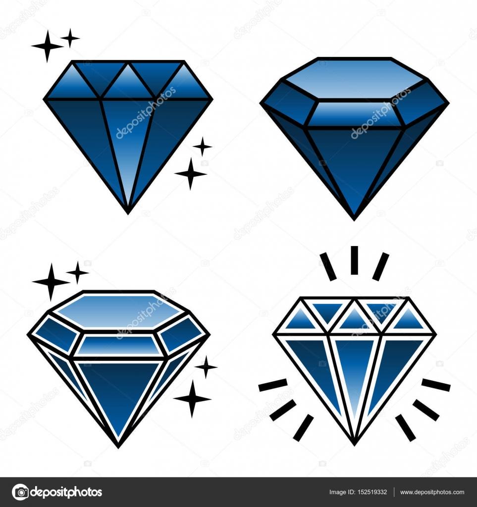Bocetos De Diamantes Colección De Vector De Diamantes Del Tatuaje