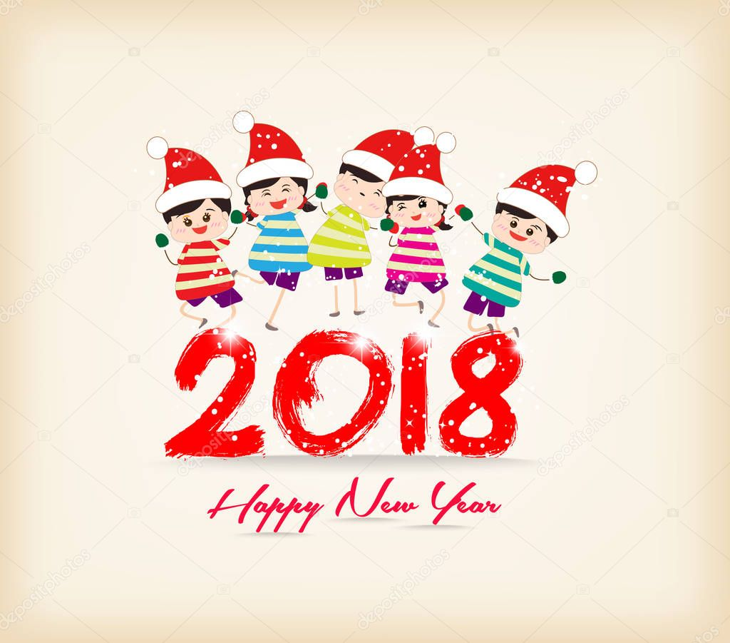 happy new year 2018 with kids funny