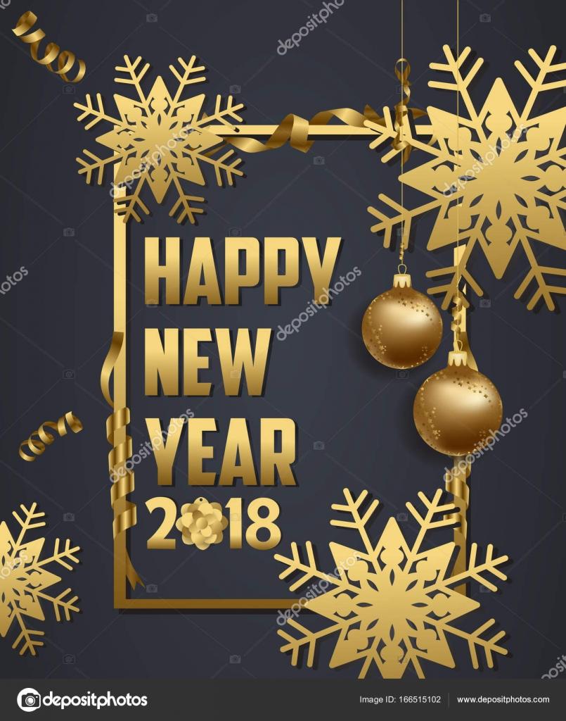 Luxus Elegant Frohe Weihnachten und ein glückliches neues Jahr 2018 ...