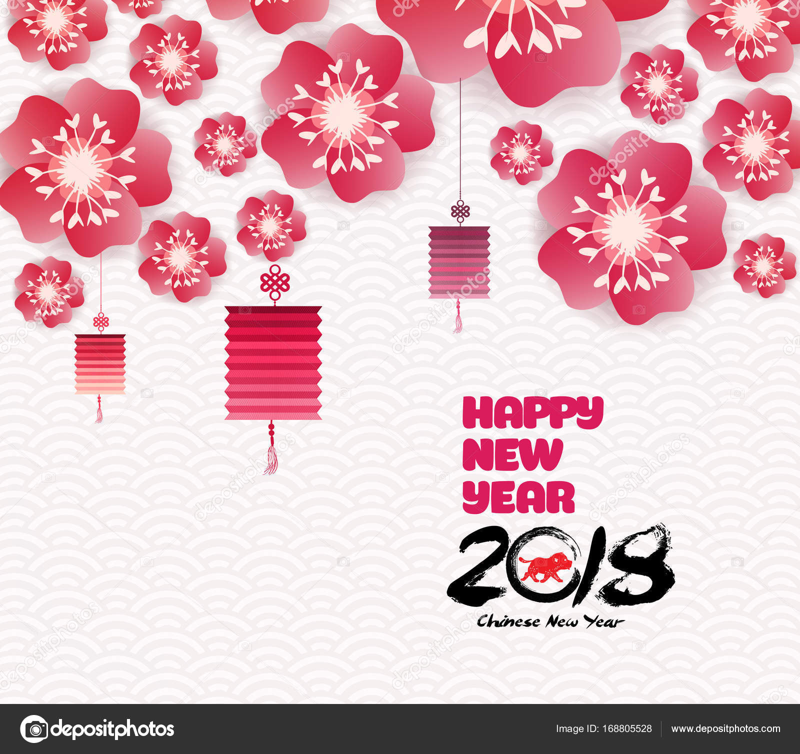 chinese new year background blooming sakura branches stock vector