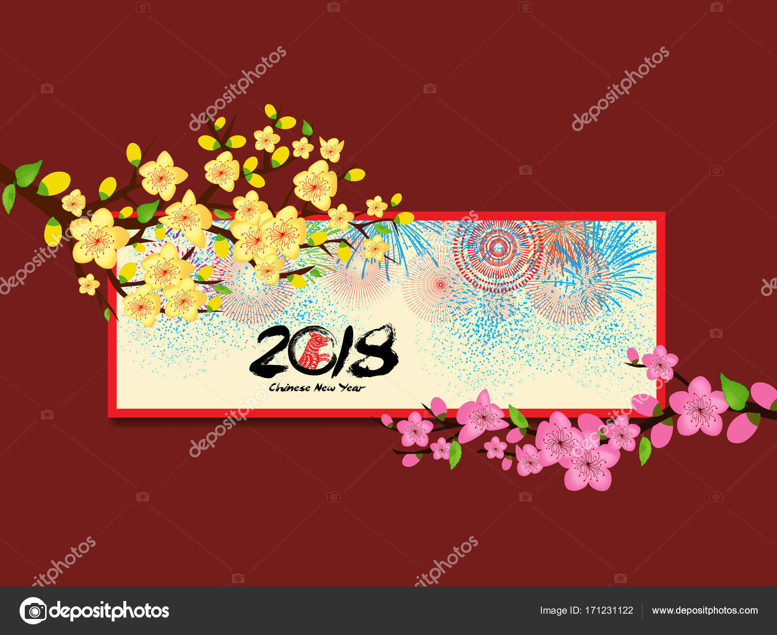 Happy new year vietnamese new year lunar new year 2018 stock happy new year vietnamese new year lunar new year 2018 stock vector m4hsunfo