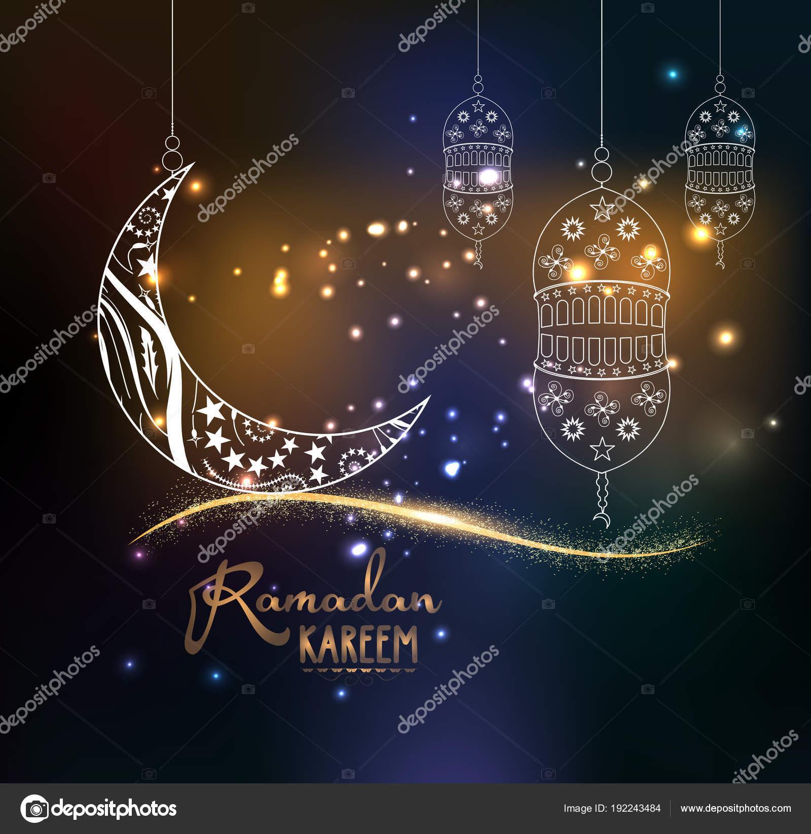 Eid Mubarak Ramadan Kareem Design Background Illustration Greeting