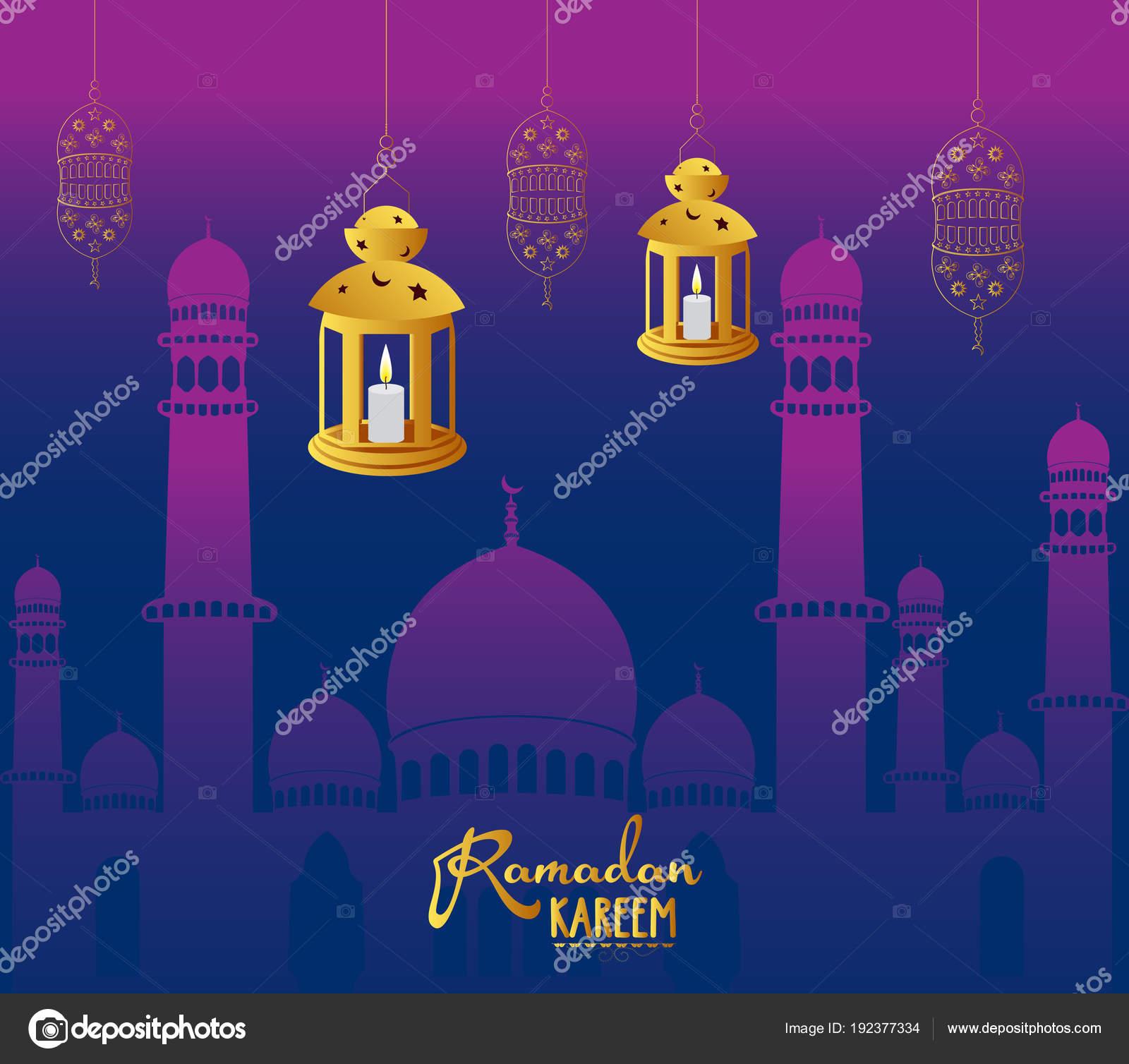 Ramadan Kareem Wallpaper Design Template — Stock Vector