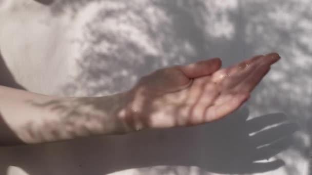 Moisturizing hand sanitizer on a white background
