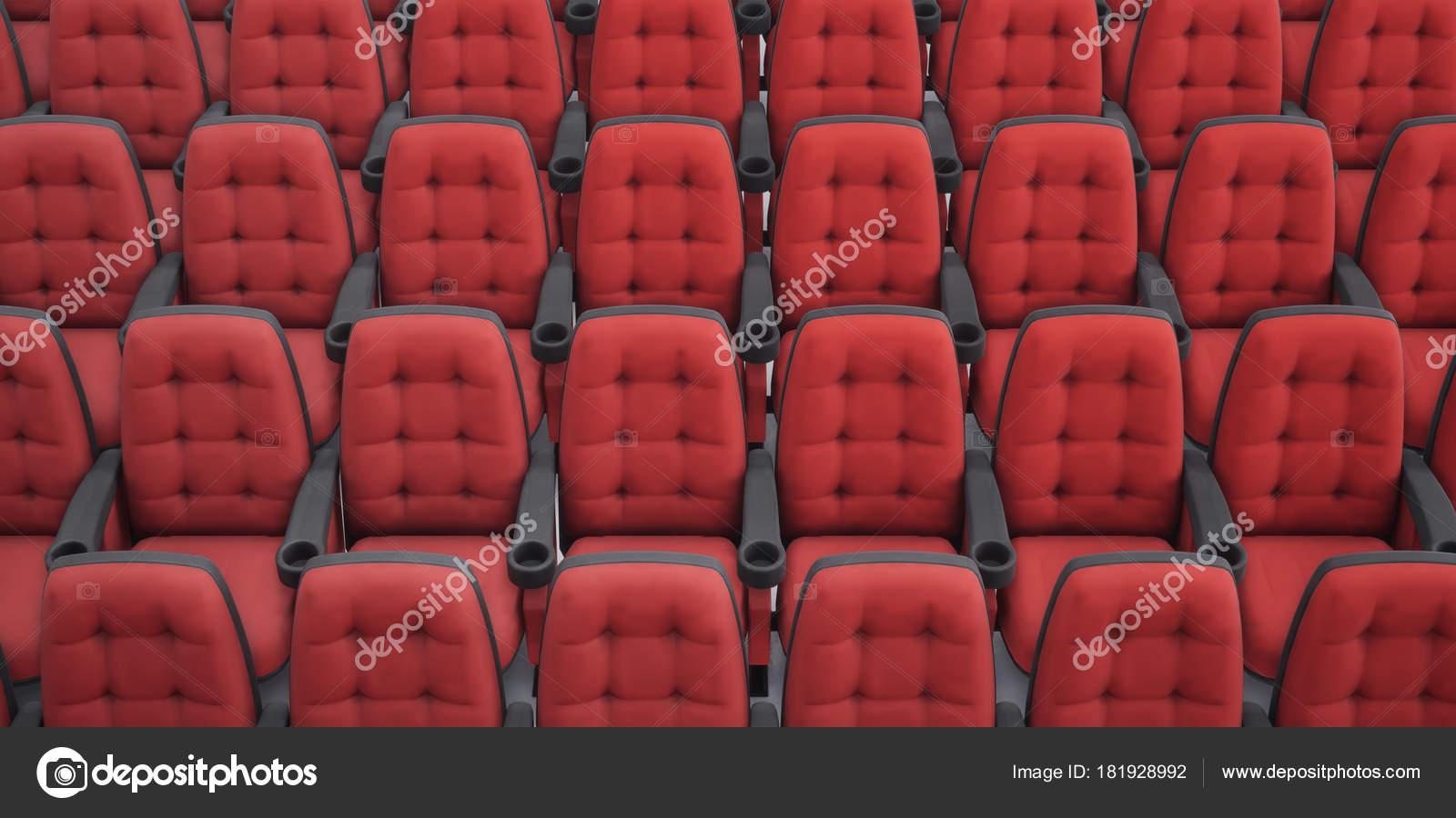 Cinema Seats 3d Rendering Rows Armchair Closeup Stock Photo C Rexi 181928992