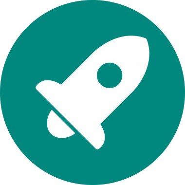 Rocket icon isolated on background