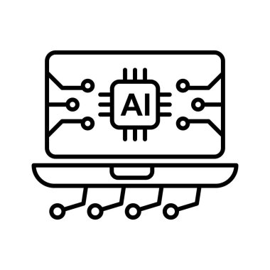 Artificial Intelligence powered Smart Research network Icon to be used as a marketing tool, or maybe as simple as icons on your website or app, the choice is yours!