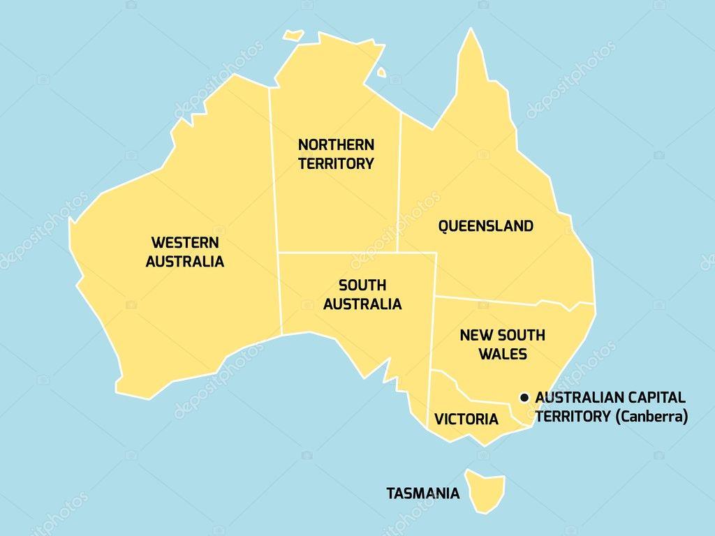 州と準州とオーストラリア地図 —...