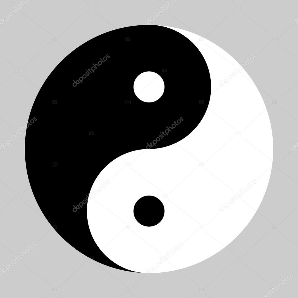 Símbolo De Yin Yang En Blanco Y Negro Archivo Imágenes Vectoriales