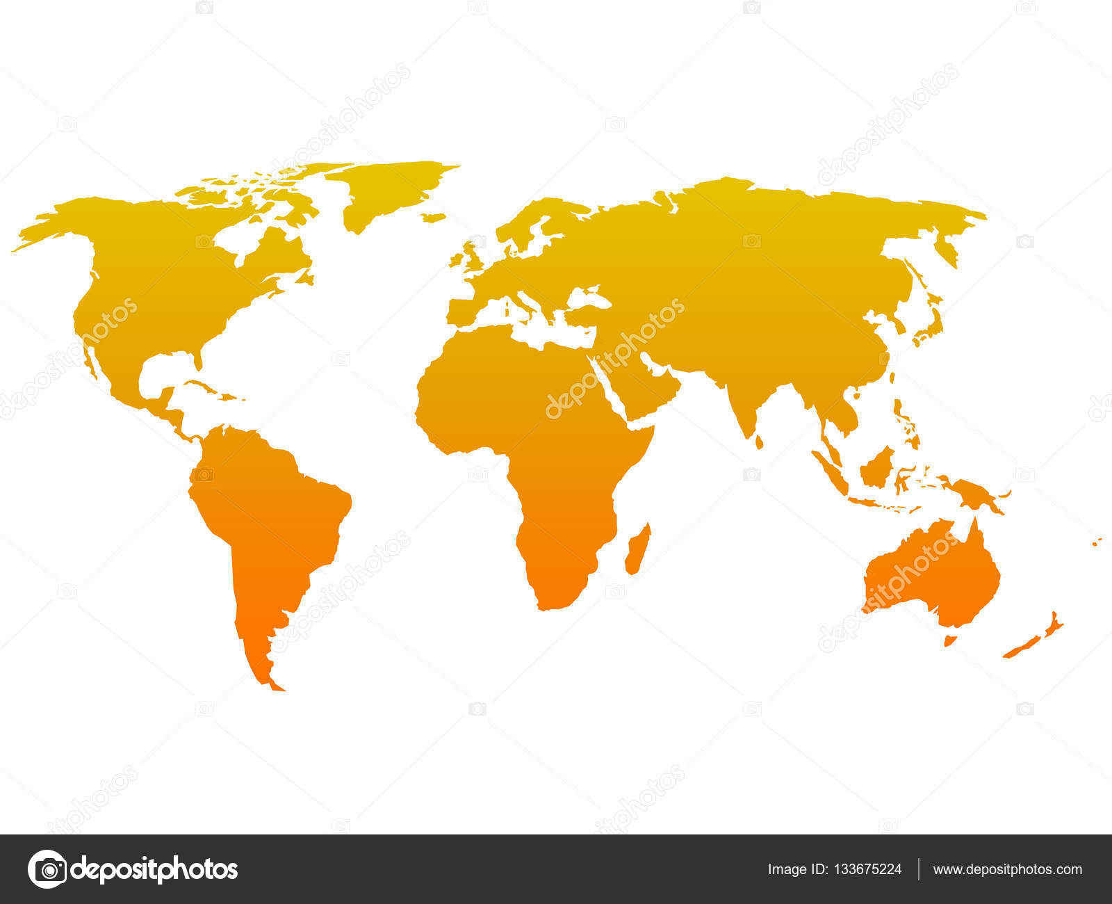 Orange silhouette of world map simple flat vector illustration orange silhouette of world map simple flat vector illustration stock vector gumiabroncs Image collections
