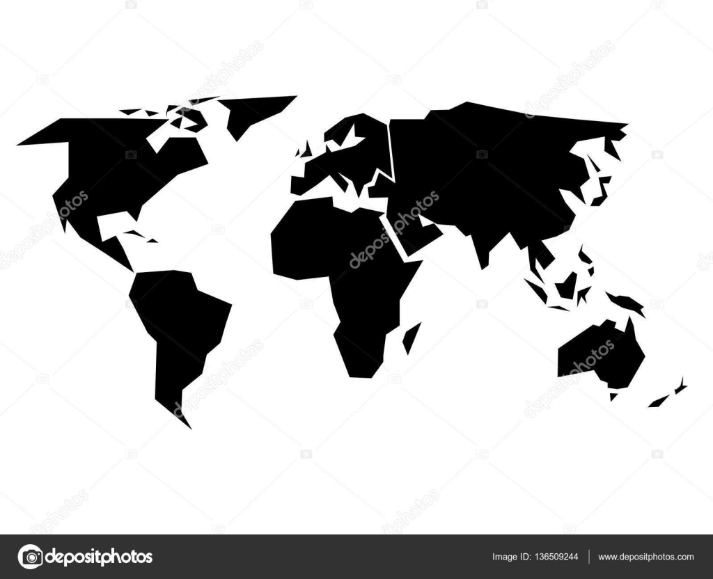 World map silhouette simplified black vector shape stock vector world map silhouette simplified black vector shape stock vector gumiabroncs Image collections