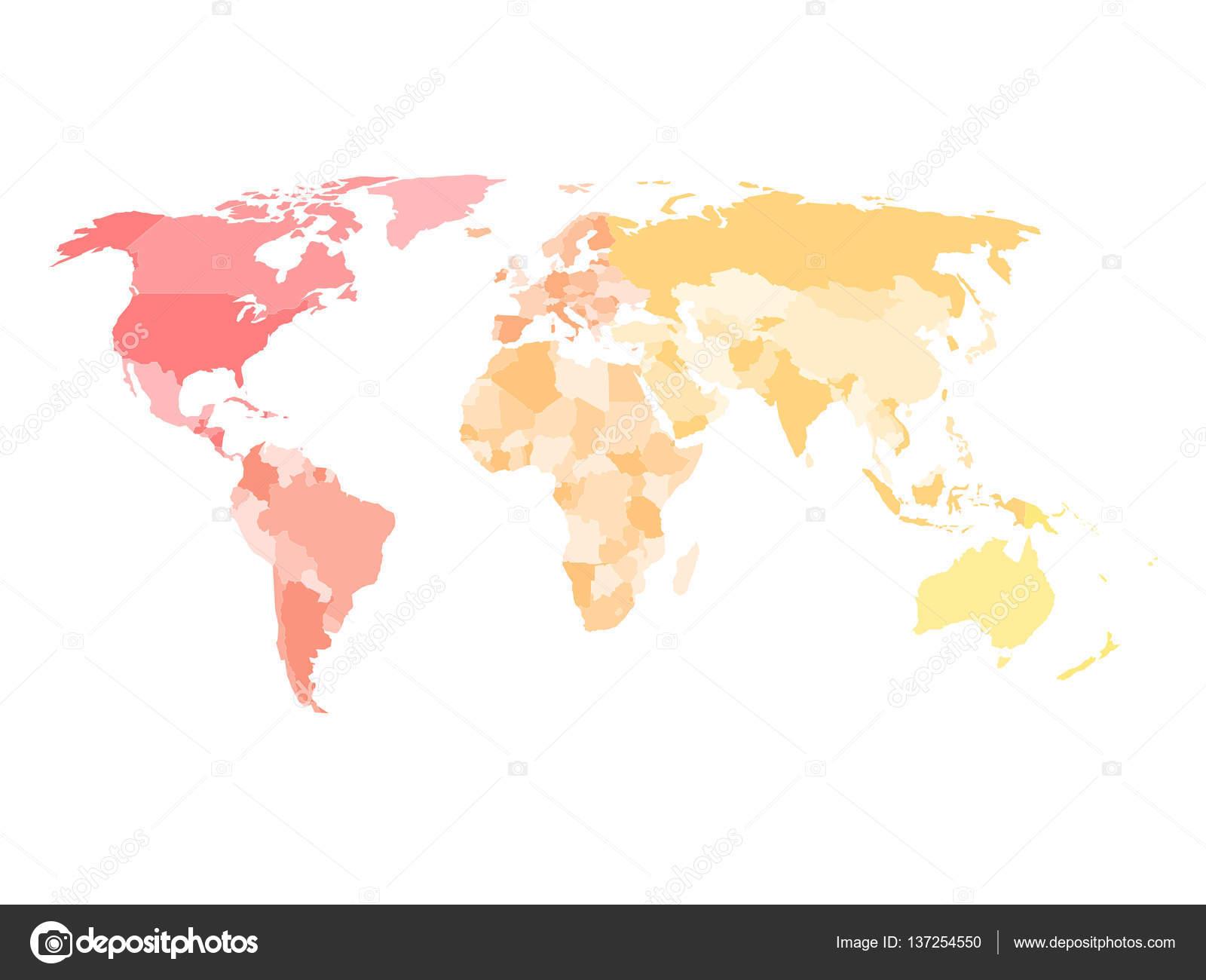 Carte Muette De Politique Simplifiée Du Monde Dans