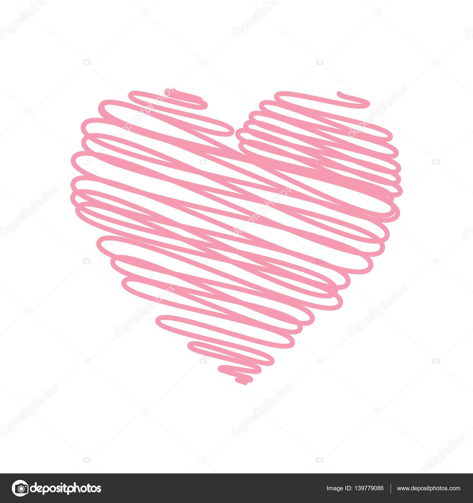 Esboço De Rabisco De Lápis Desenho De Rosa Em