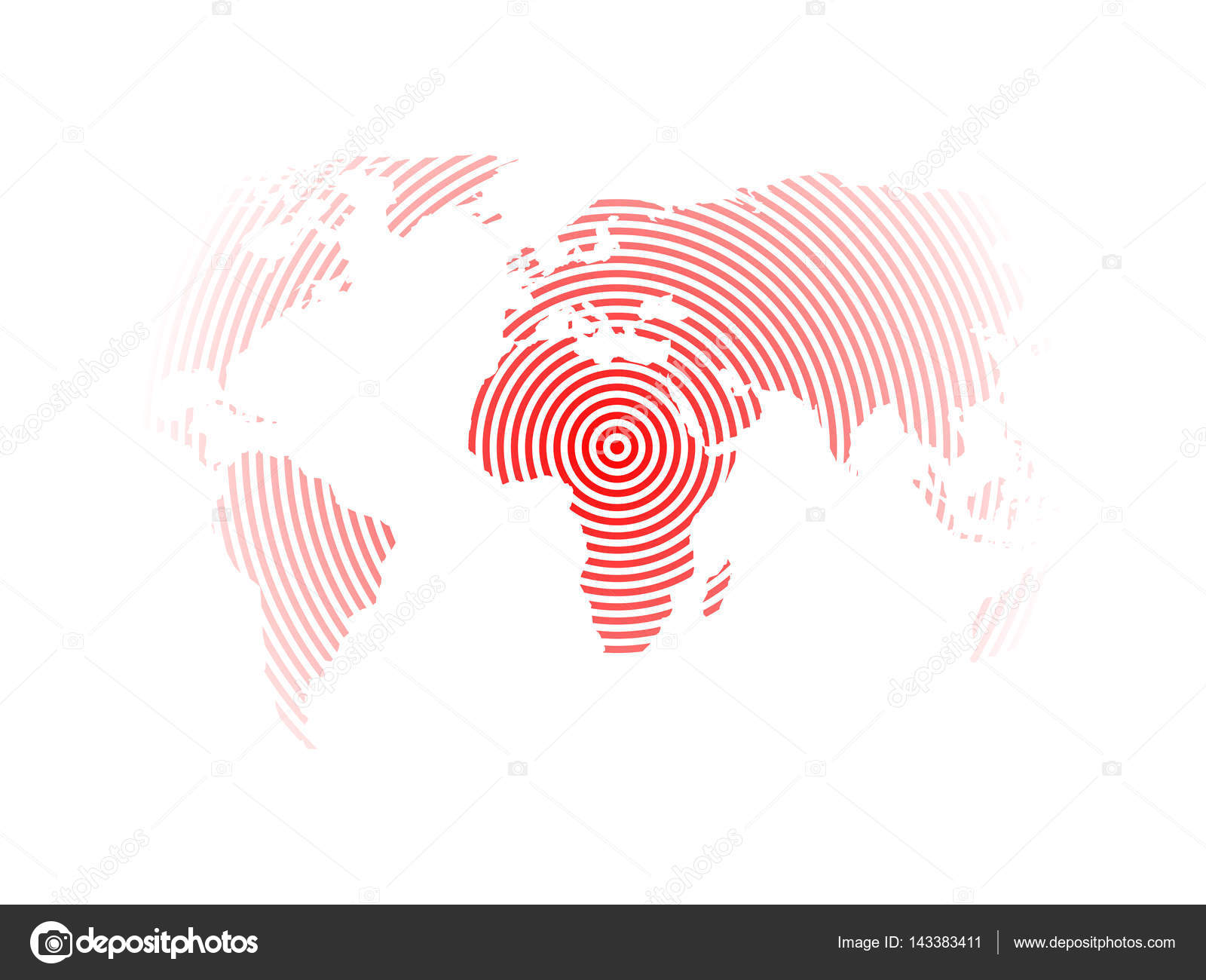 World map of red concentric rings on white background earthquake world map of red concentric rings on white background earthquake epicentre theme modern design vector wallpaper vector by pyty gumiabroncs Gallery