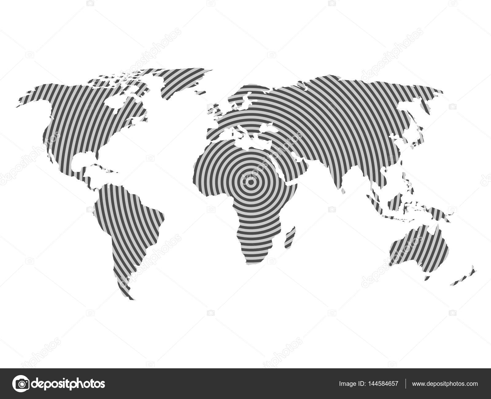 World map of grey concentric rings on white background worldwide world map of grey concentric rings on white background worldwide communication radio waves concept modern design vector wallpaper vector by pyty gumiabroncs Gallery