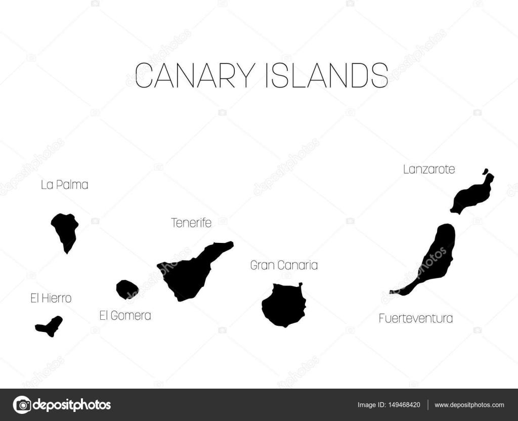 Kanaren Inseln Karte.Karte Der Kanarischen Inseln Spanien Mit Beschriftungen