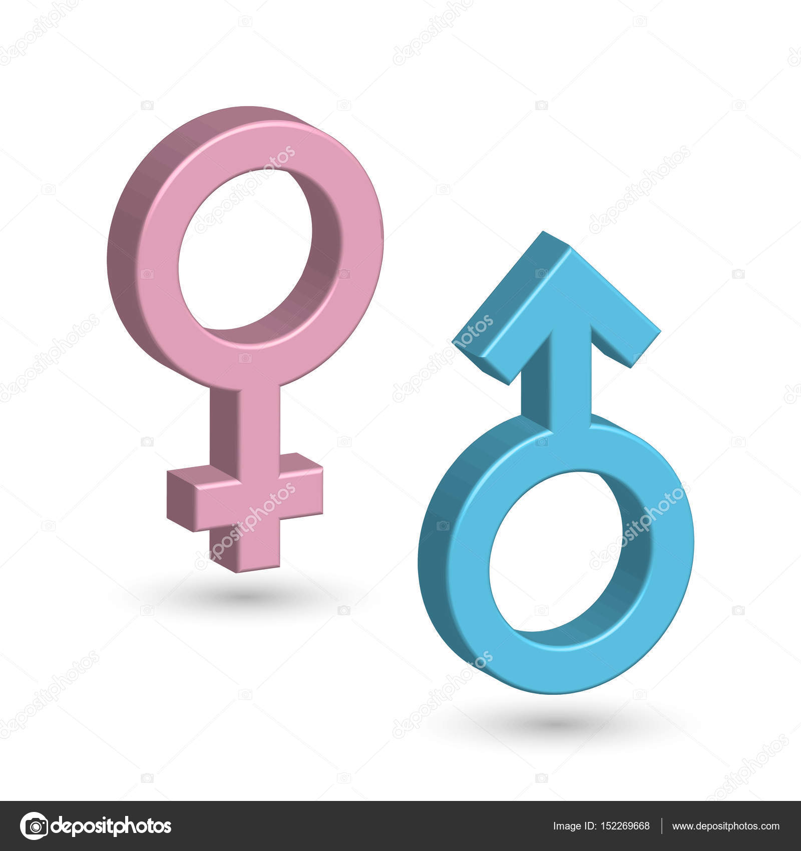 3d male and female symbols in blue and pink color with shadow on 3d male and female symbols in blue and pink color with shadow on the ground buycottarizona