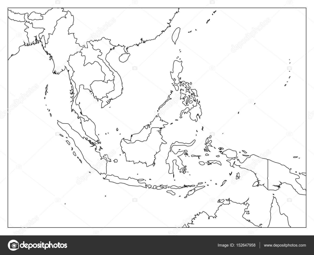 Asia political map blank | South East Asia political map ...