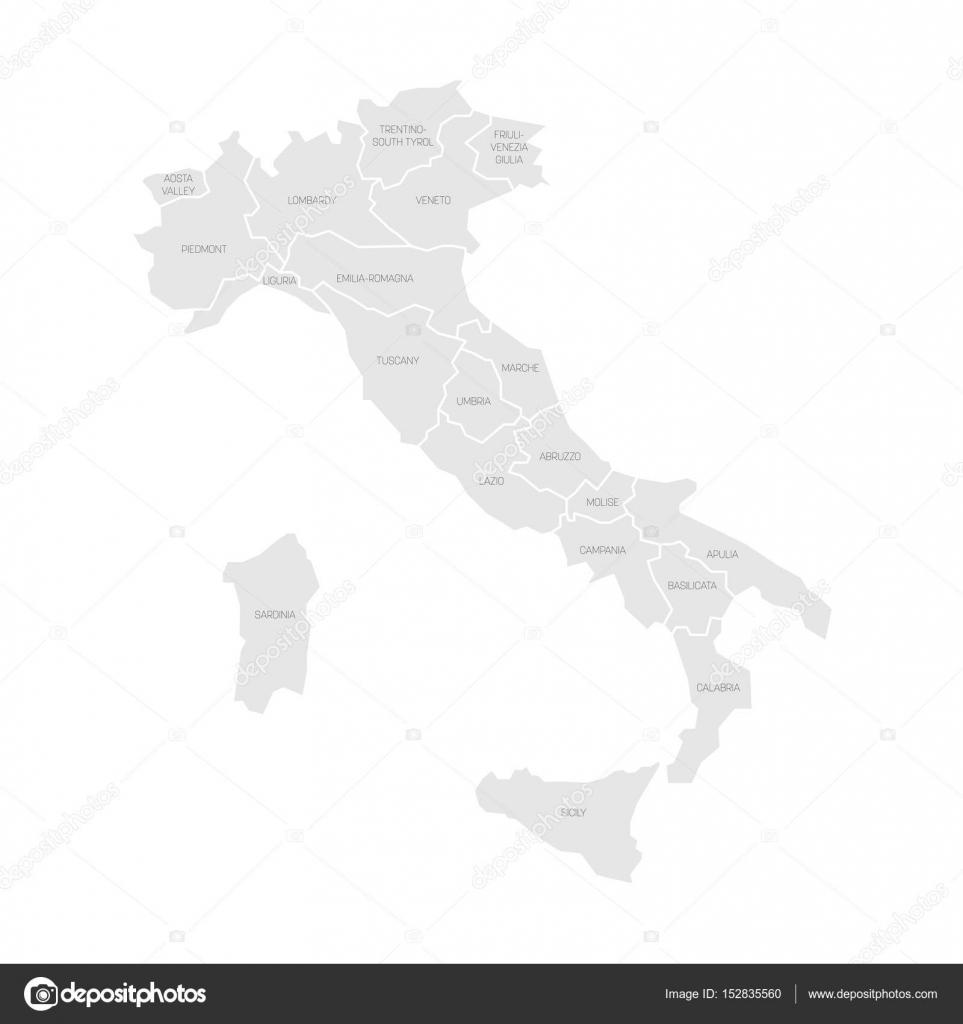 Mapa Politico En Blanco.Mapa Politico De Italia Blanco Y Negro Mapa De Italia Se