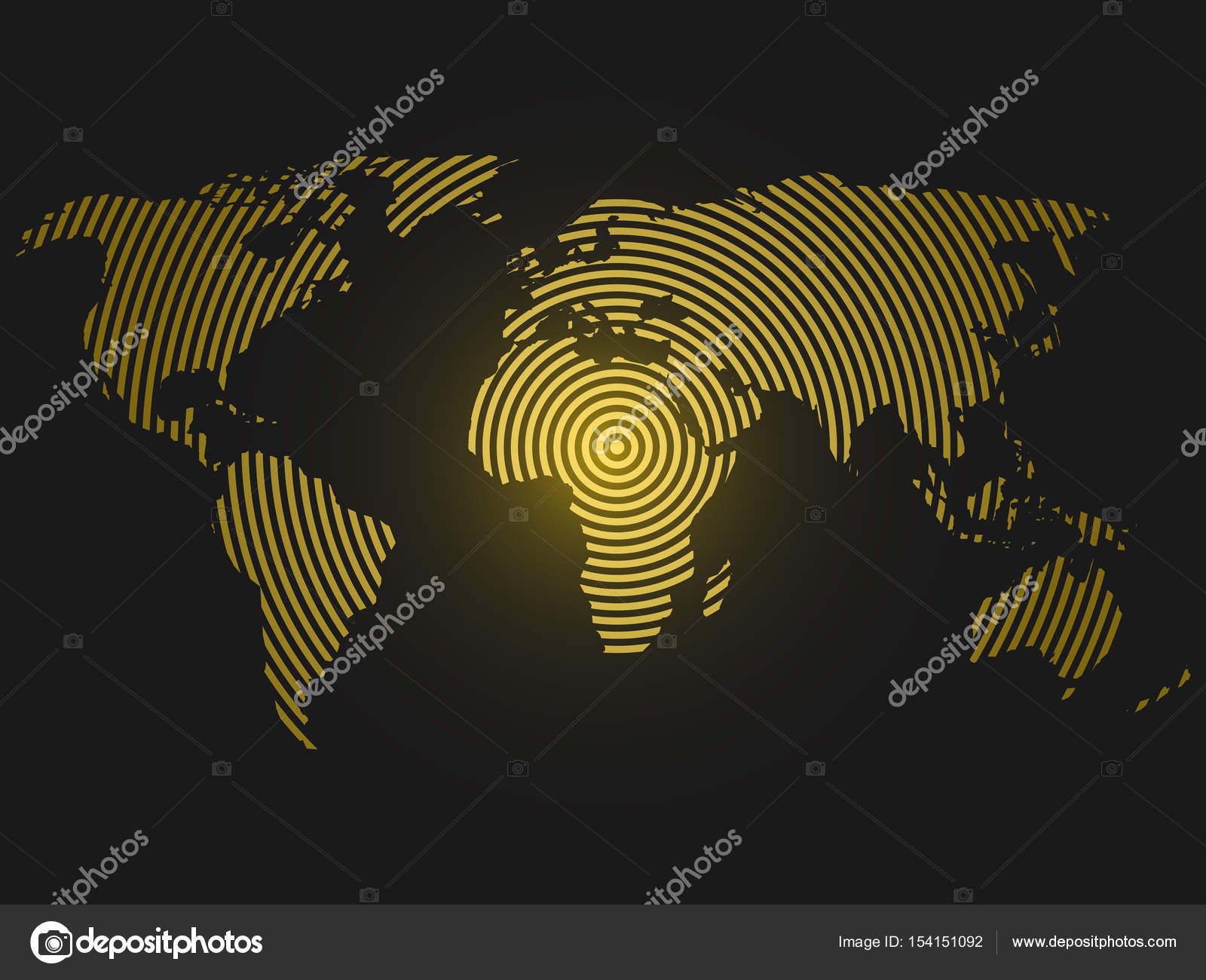 World map of yellow concentric rings on dark grey background world map of yellow concentric rings on dark grey background worldwide communication radio waves concept modern design vector wallpaper vector by pyty gumiabroncs Gallery