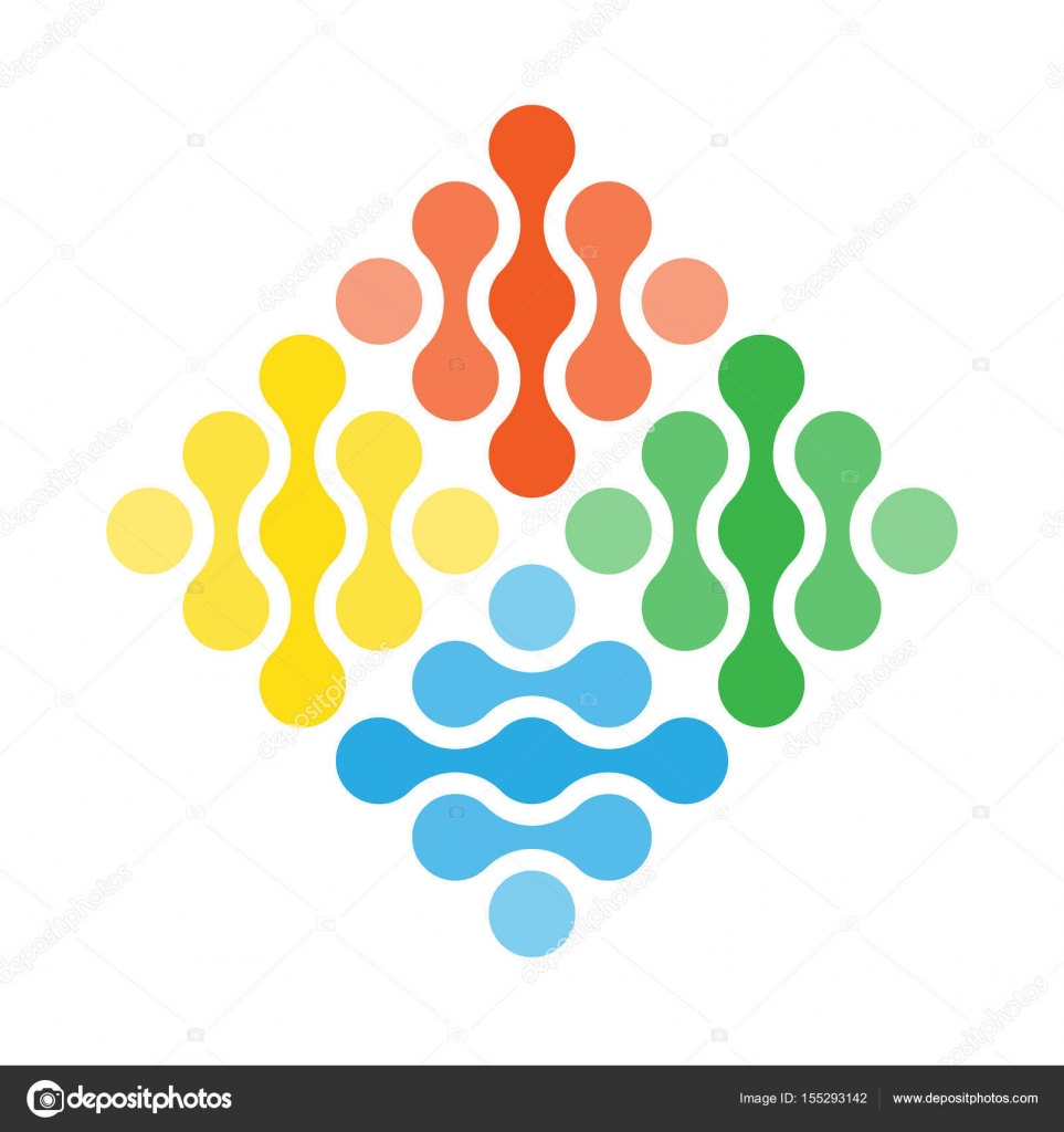 Four Elements Simple Vector Symbol Abstract Design Concept Of Fire