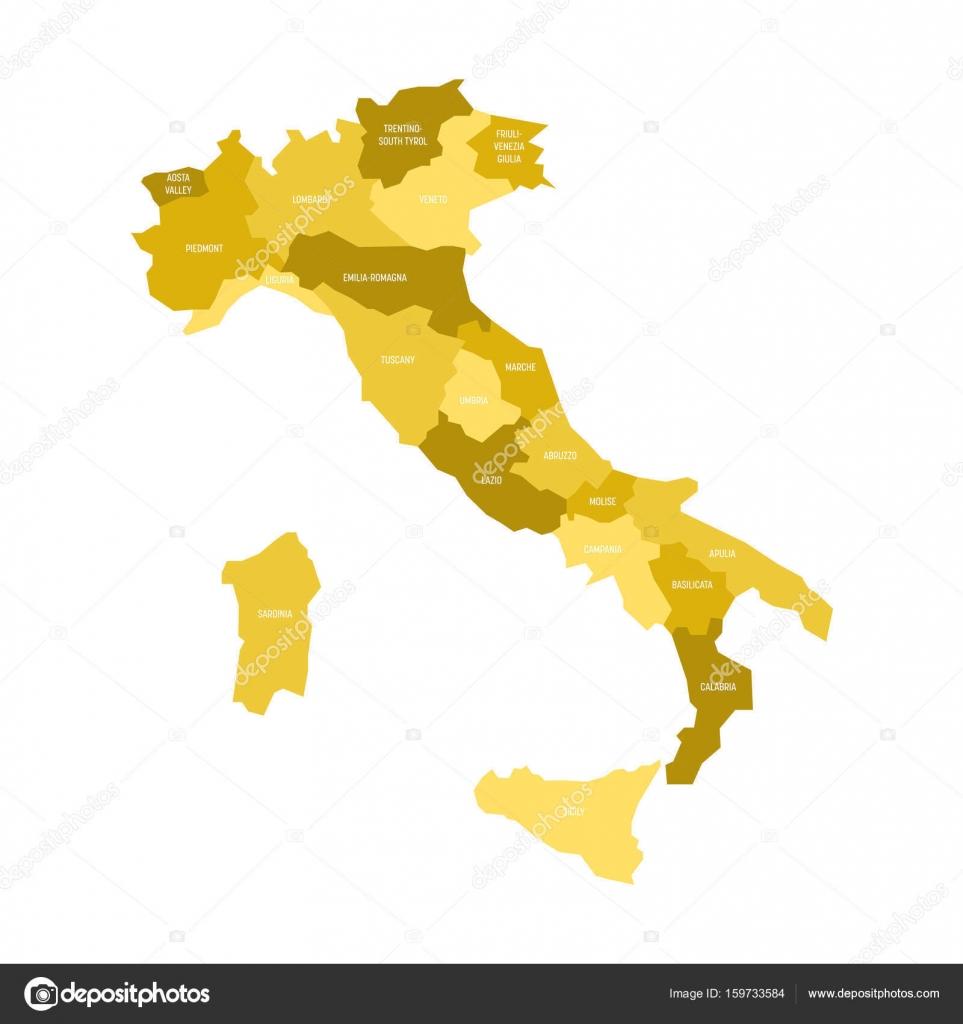 Cartina Italia Confini Regioni
