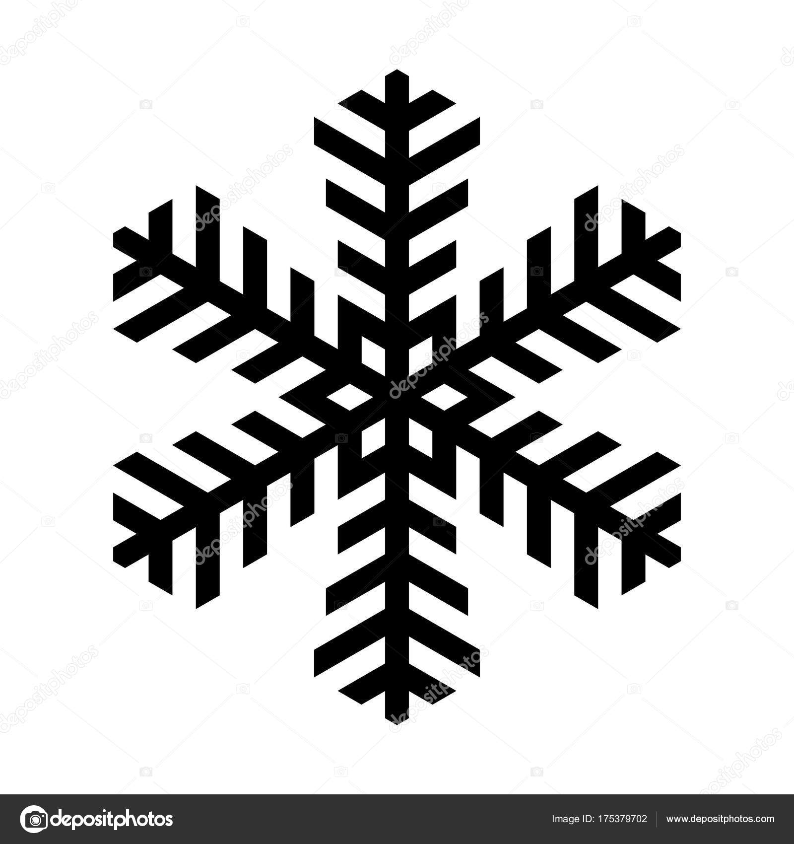 Snowflake icon. Christmas and winter theme. Simple flat