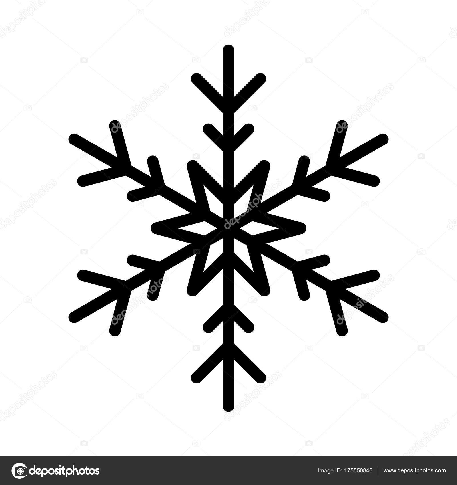 Icône flocon de neige. Thème Noël et hiver. Illustration ...