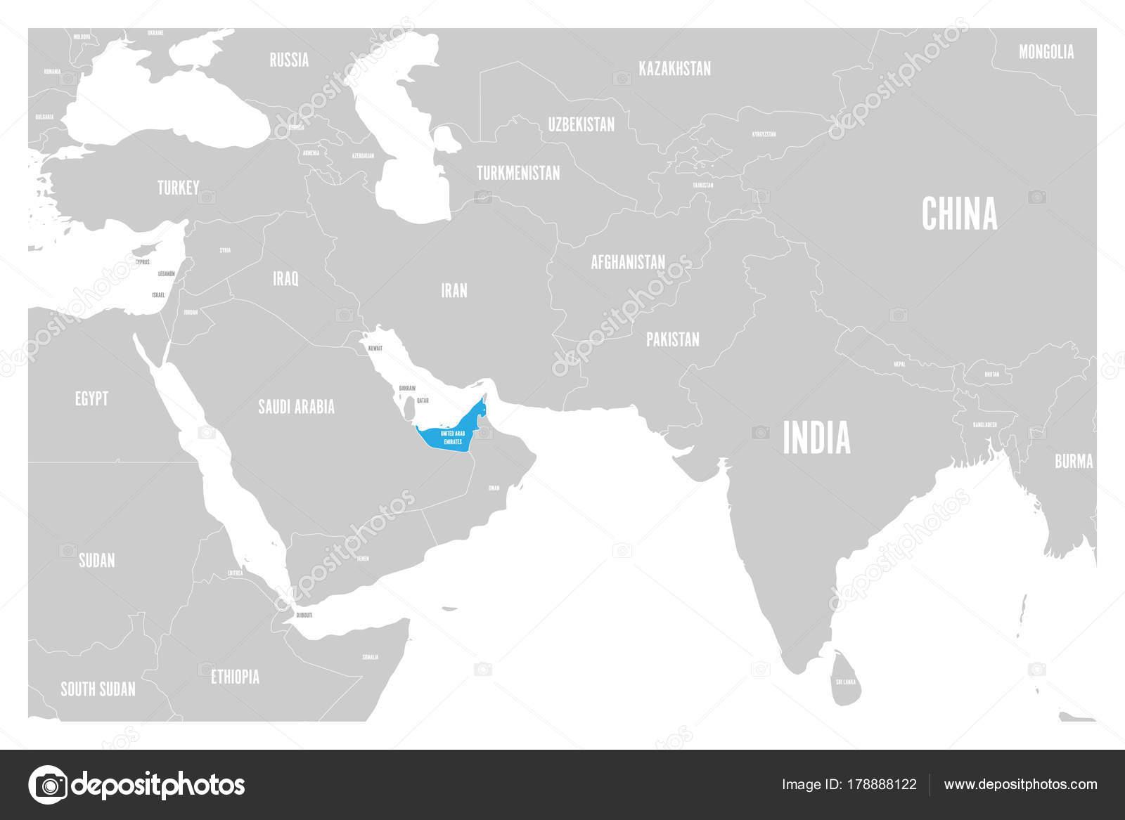 United Arab Emirates blue marked in political map of South ... on dubai map, persian gulf, uae map, bahamas map, tunisia map, ras al-khaimah, bangladesh map, burj al-arab, middle east, oman map, iran map, great britain map, saudi arabia map, yemen map, bahrain map, india map, saudi arabia, hong kong map, burj khalifa, sharjah map, finland map, arabian peninsula, gibraltar map, mali map, abu dhabi, niue map, dubai international airport, states of america map, syria map,