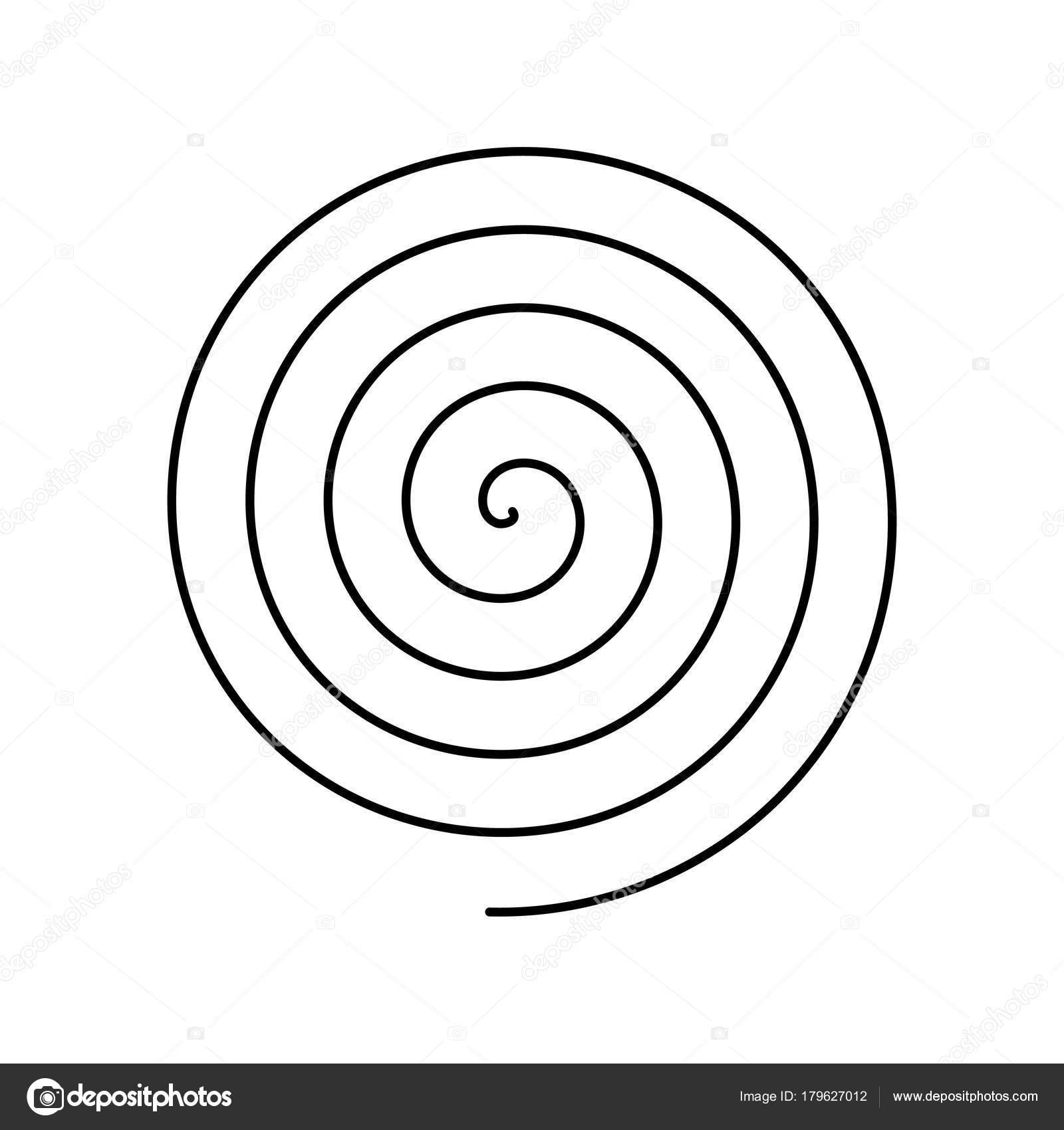 thin black spiral symbol simple flat vector design