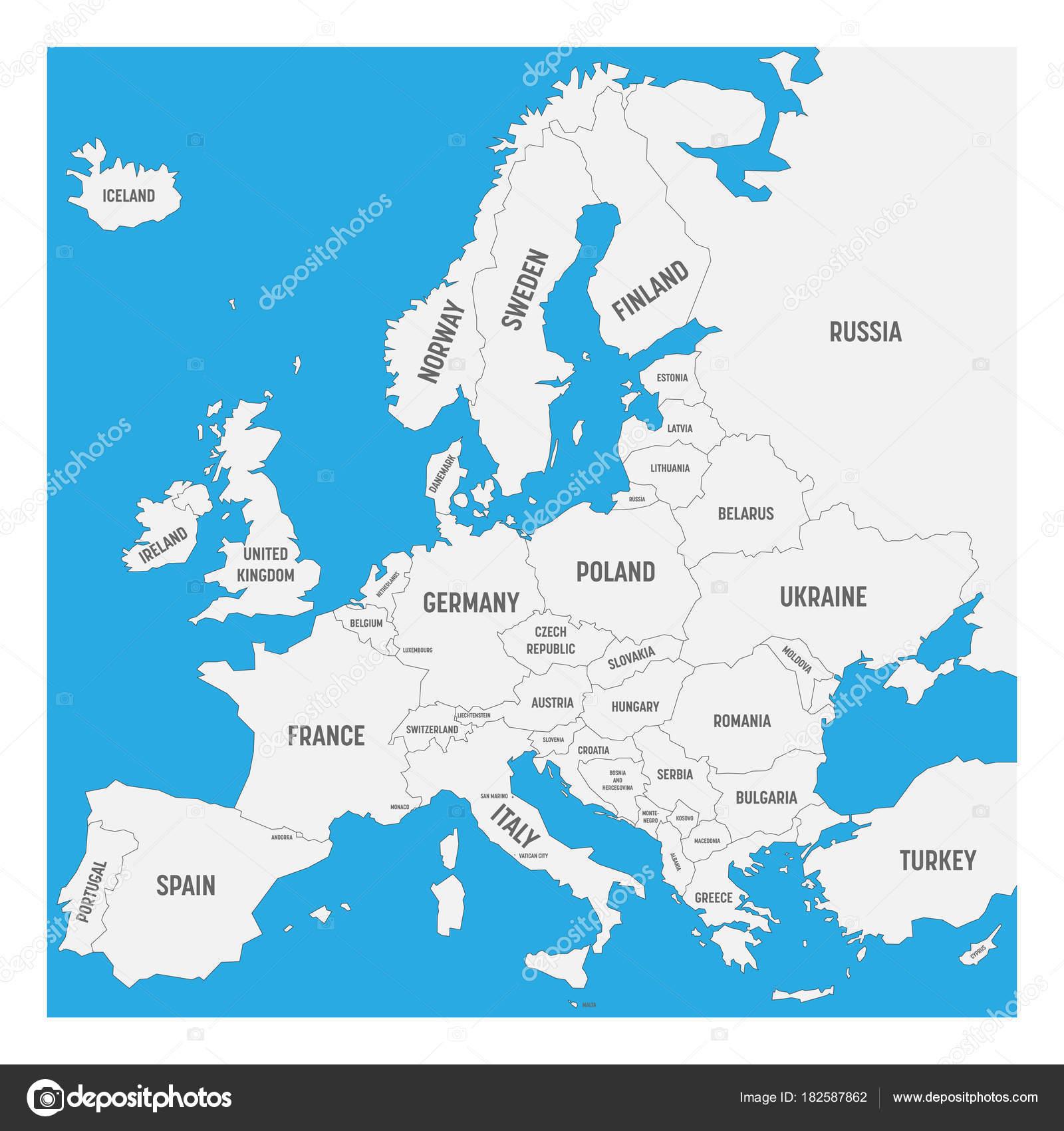 Mapa De Europa En Blanco Con Nombres.Imagenes Mapa Europa Paises Mapa De Europa Con Nombres De