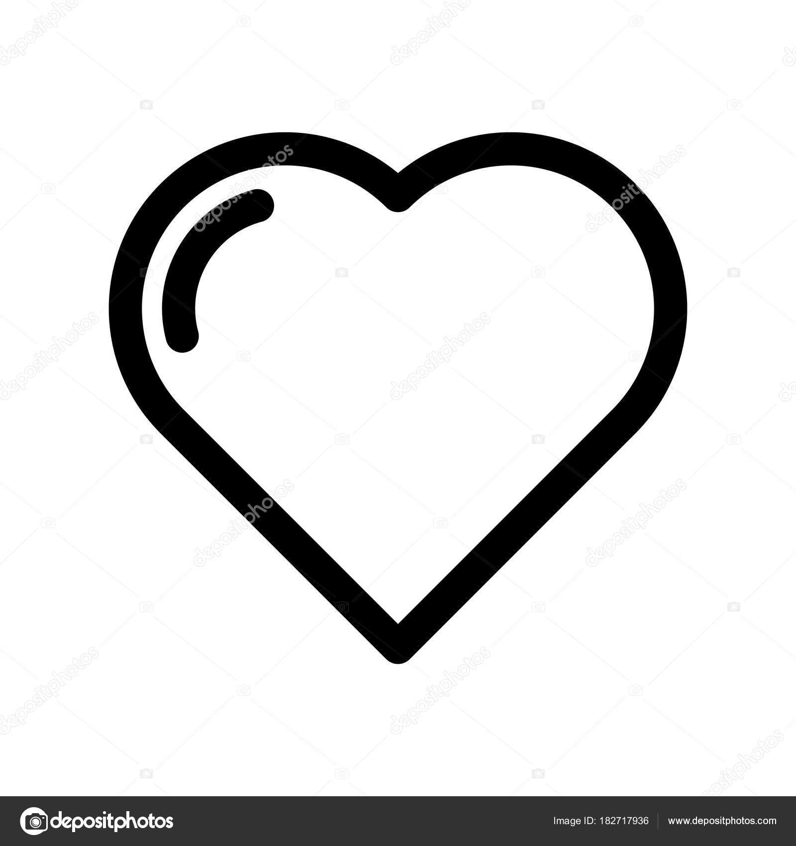 Heart icon symbol of love wedding and saint valentine outline heart icon symbol of love wedding and saint valentine outline modern design element buycottarizona Image collections