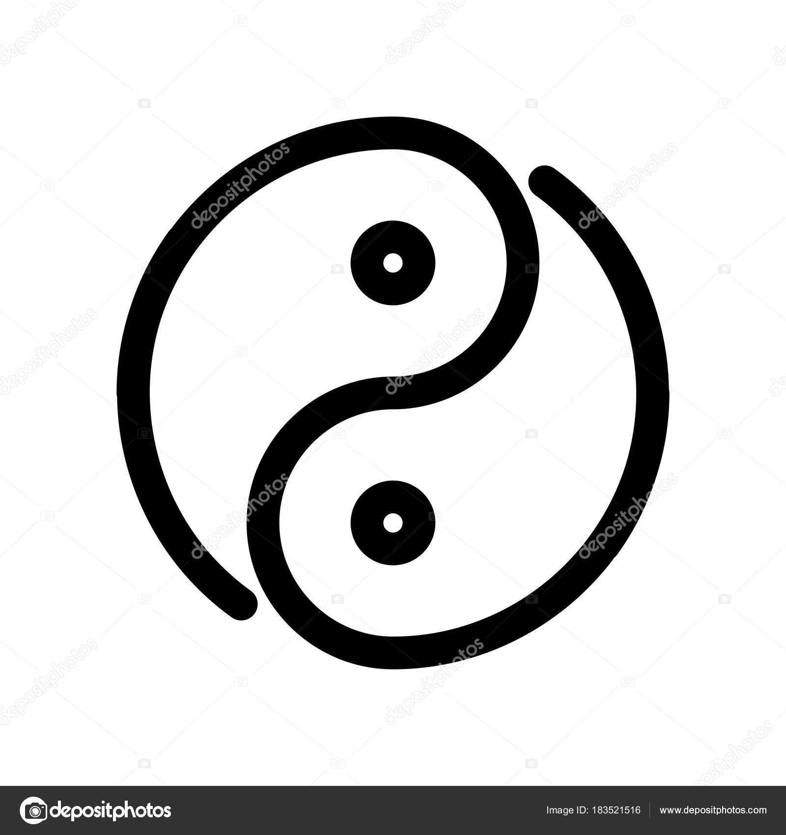 yin yang icon outline modern design element simple black flat rh depositphotos com Yin Yang Art Yin Yang Symbol