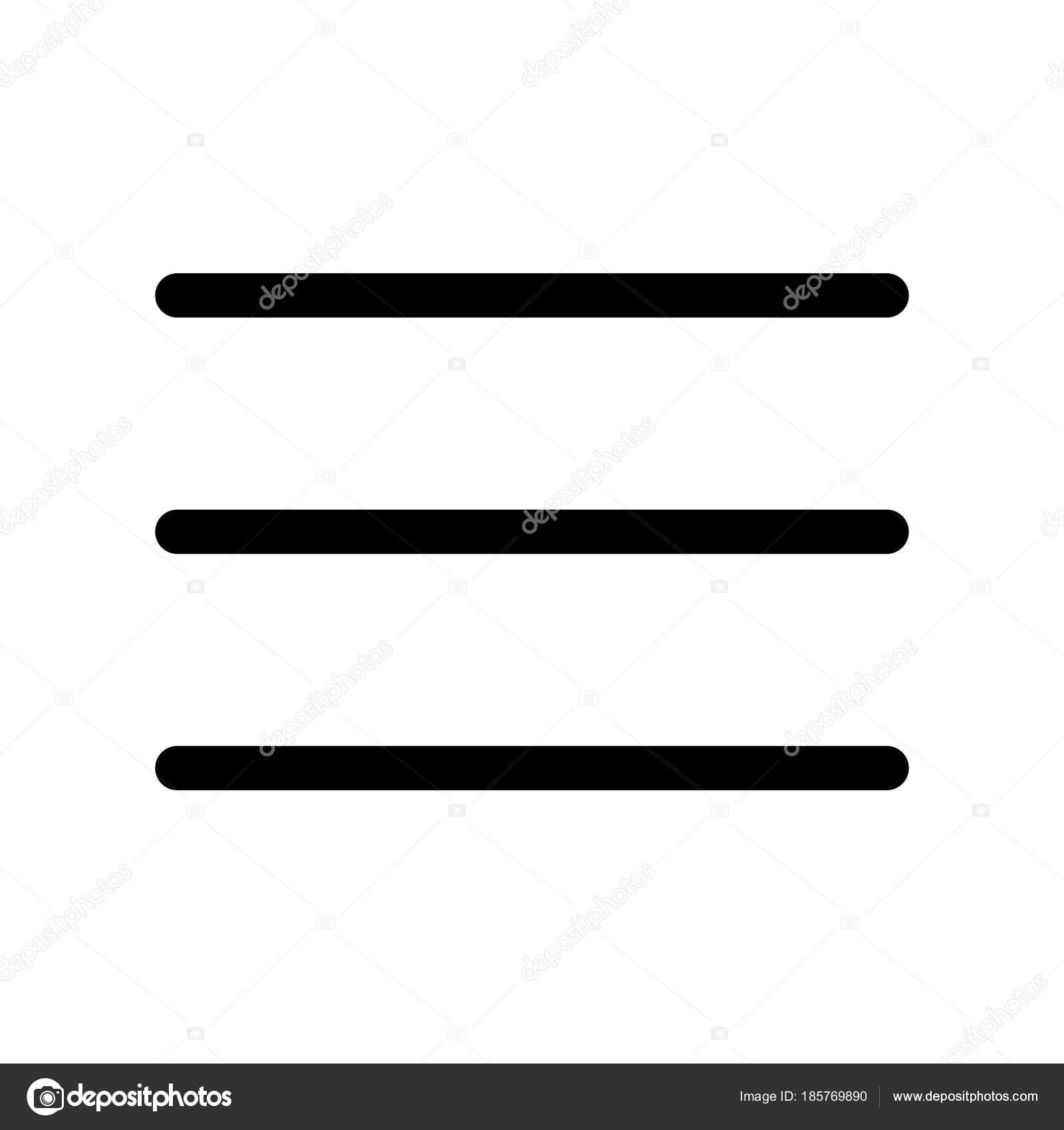 three bar line icon symbol of menu outline modern design element