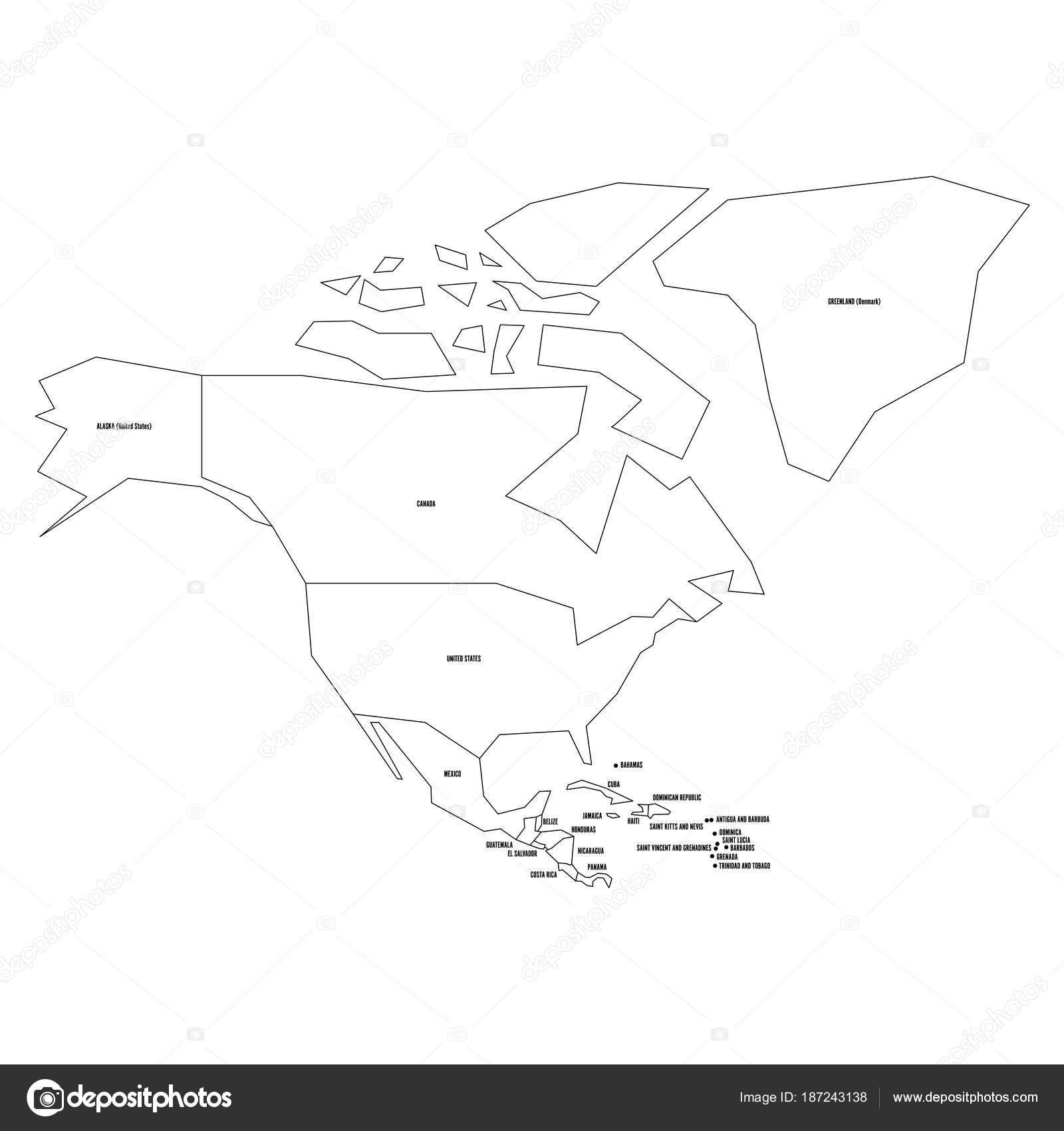 Mapa De Antigua Y Barbuda Para Colorear Mapa Político De