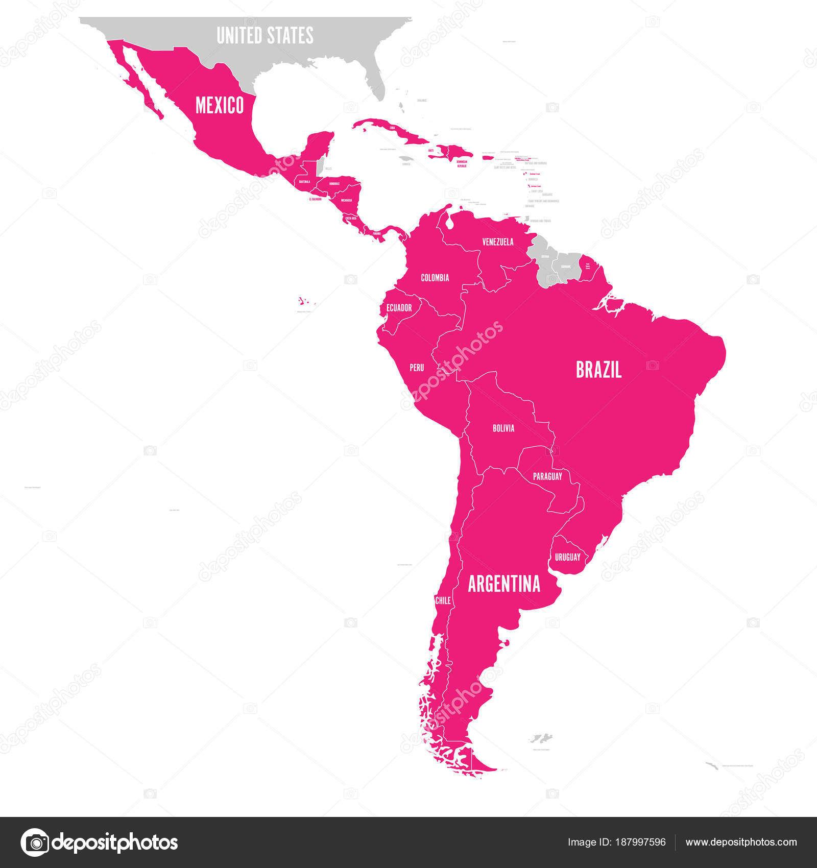 Political map of Latin America. Latin american states pink ... on asia pacific map, western europe map, central and southwest asia map, central america vegetation map, middle america map, andes mountains map, panama canal map, central and east africa map, north america map, caribbean map, central and south american countries, belize map, south central us map, west indies and central america map, amazon river map, central plains south america, llanos map, latin america map, central and southern europe map, orinoco river map,