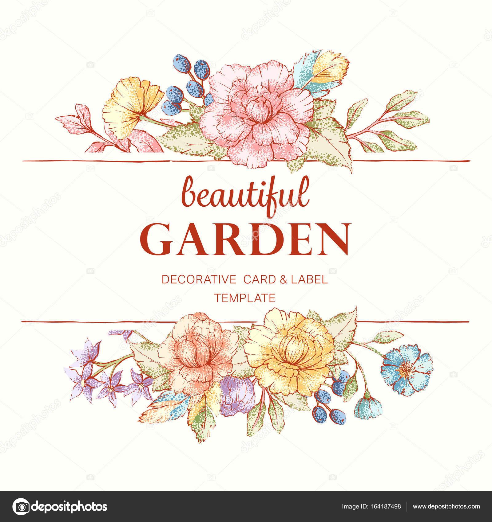 floral Frame Vorlage — Stockvektor © JalloM #164187498