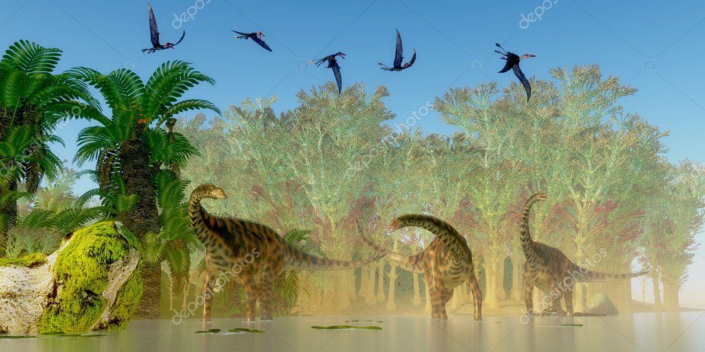 Spinophorosaurus Dinosaurs Swamp