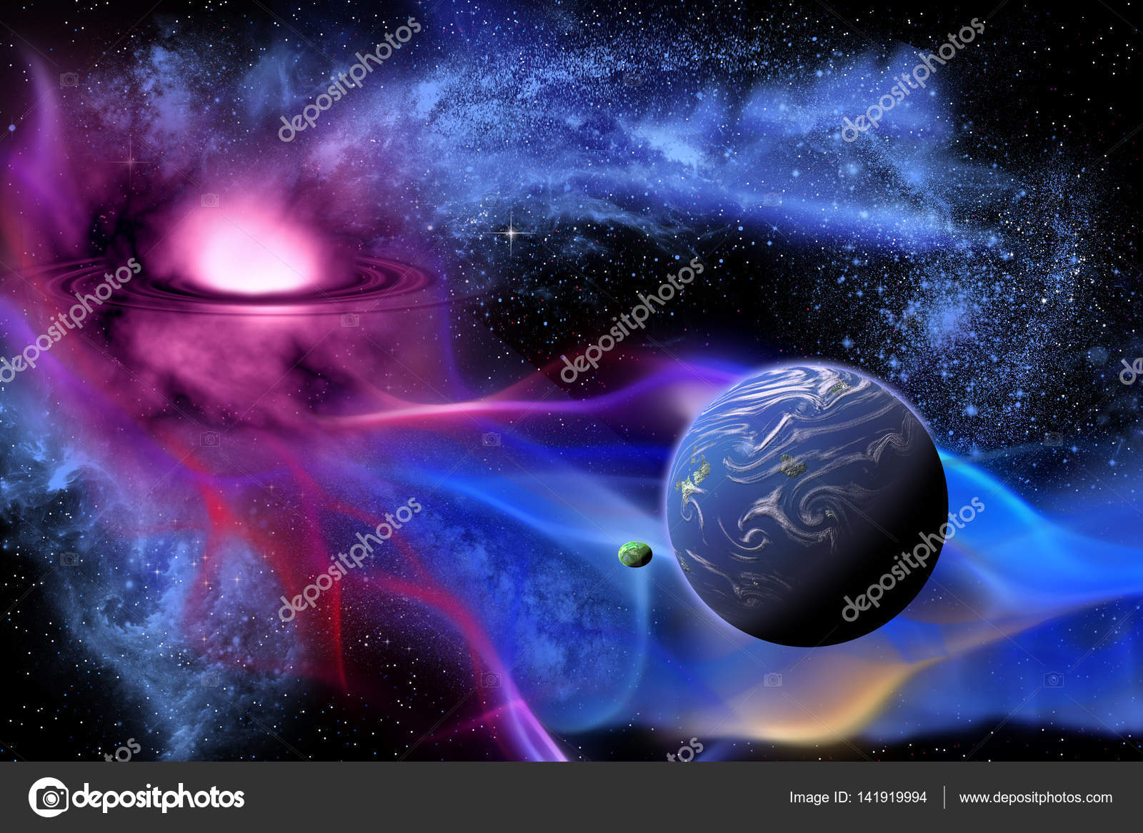 exoplanet in outer space stock photo coreyford 141919994