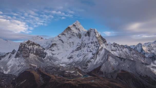 Ama Dablam Mountain at Sunset. Himalaya, Nepal