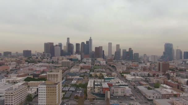 Los Angeles Downtown. California, USA. Aerial View