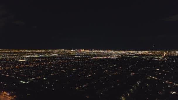 Las Vegas Cityscape v noci. Nevada, USA. Letecký pohled