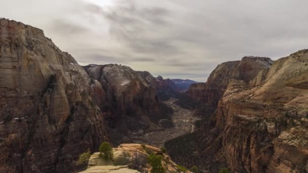 Zion Canyon from Summit of Angels Landing. Utah, USA
