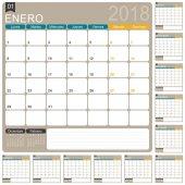 Španělský kalendář 2018
