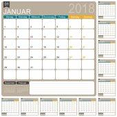 Německý kalendář 2018