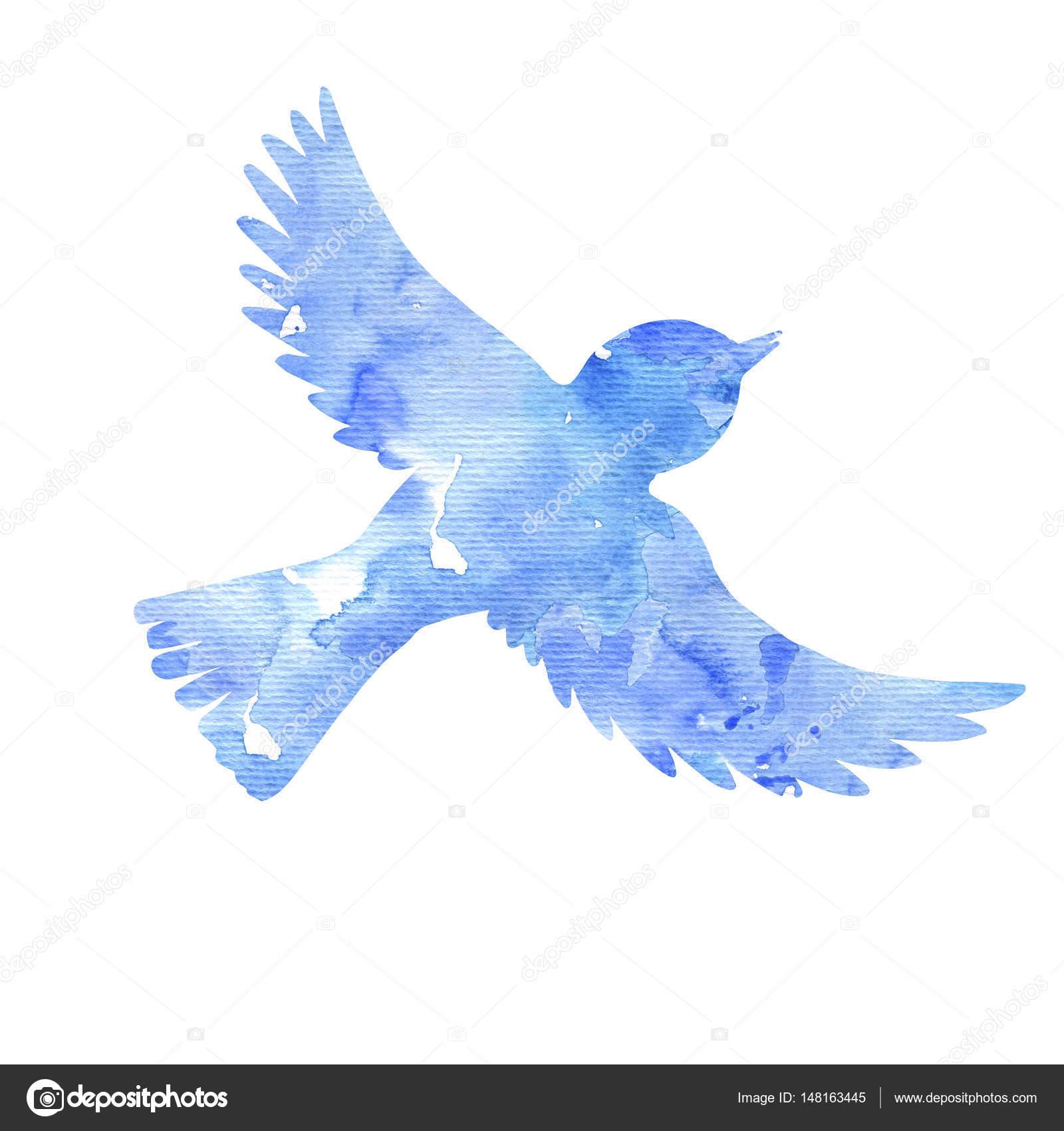 水彩の空飛ぶ鳥シルエット \u2014 ストック写真 © cat_arch_angel