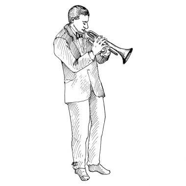 Man playing trumpet,
