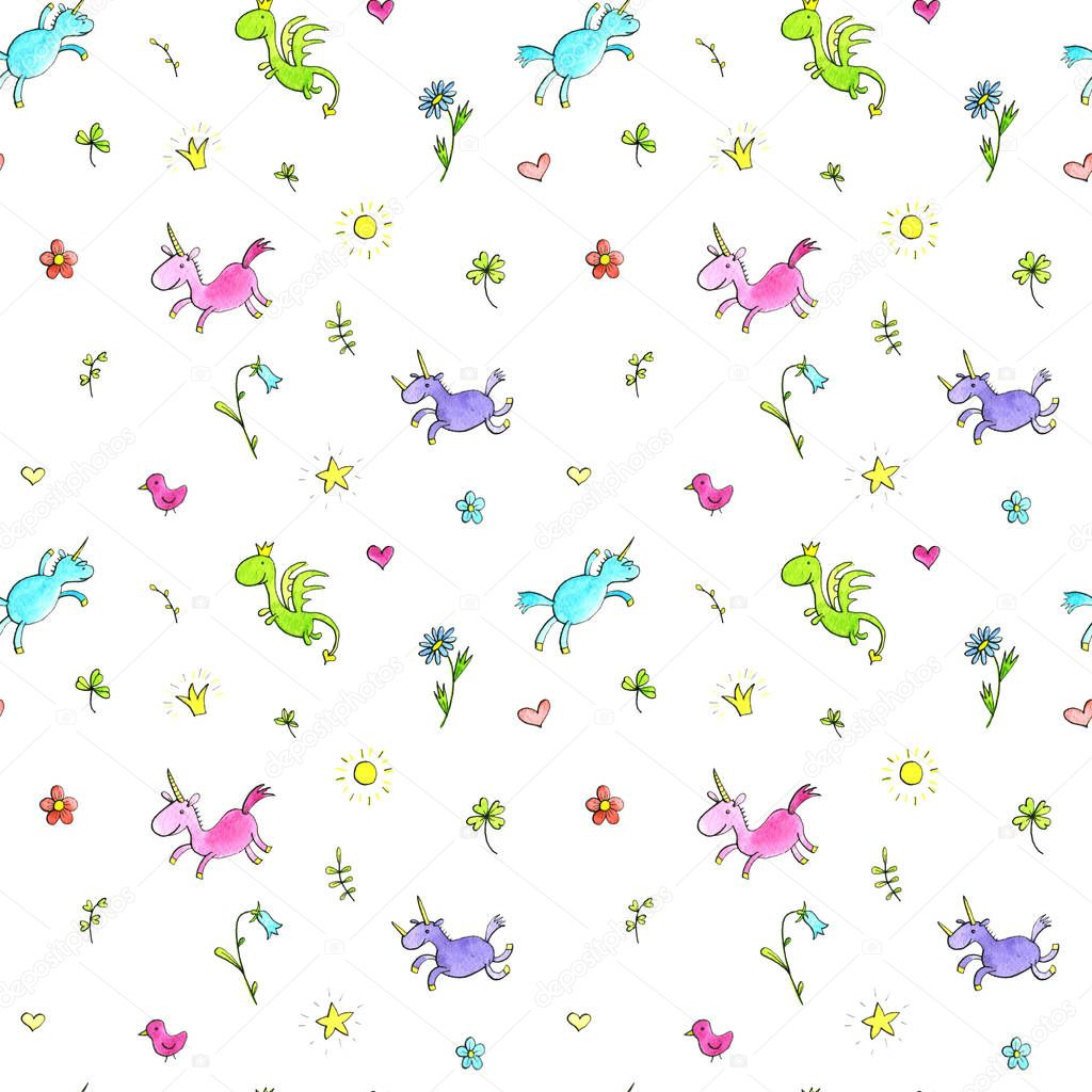 magic doodle seamless pattern