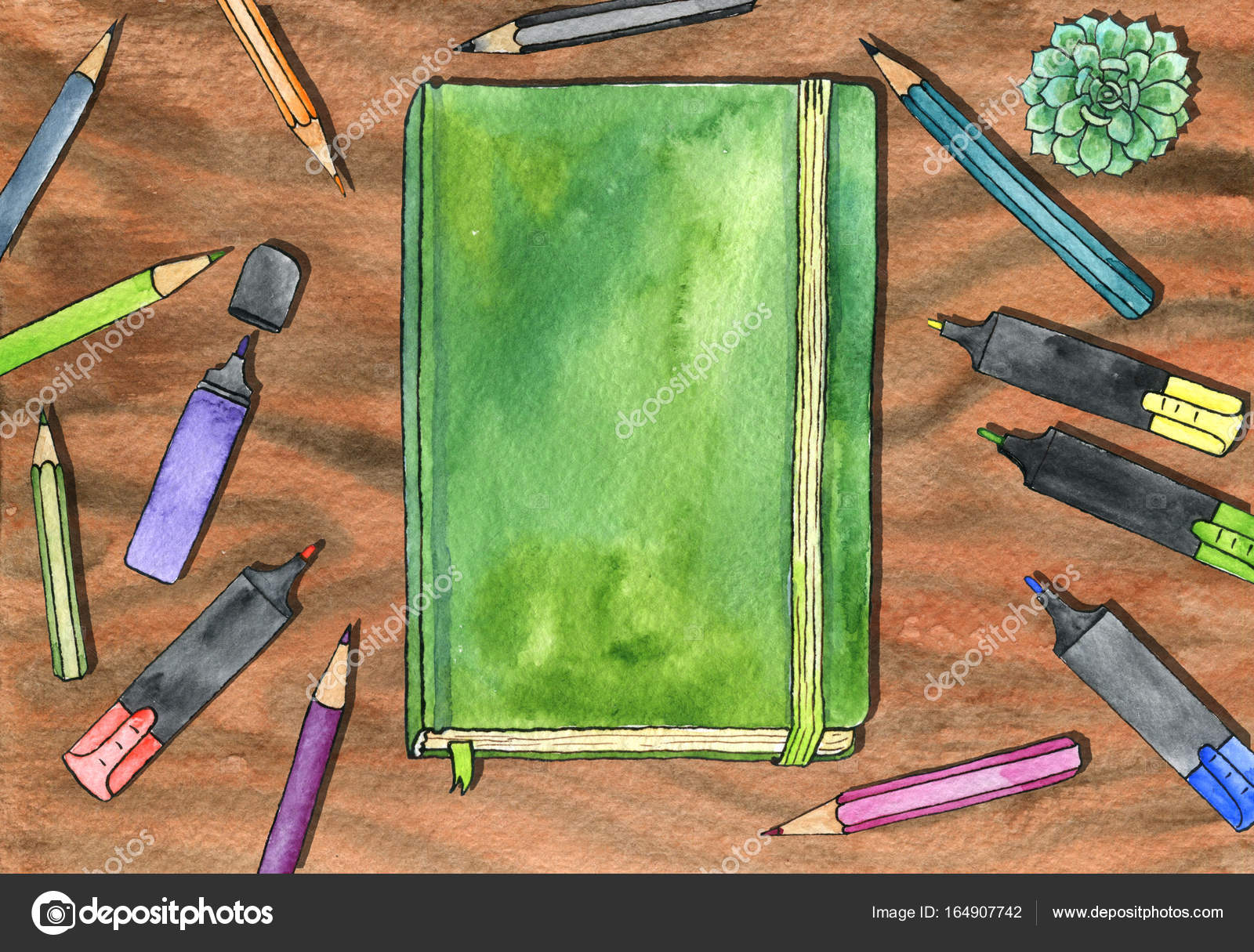 Tavolo Da Disegno Artistico : Acquerello artistico dell area di lavoro u foto stock